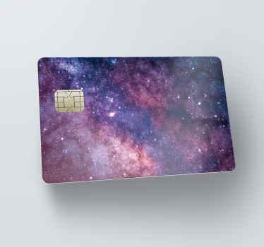 Naklejka na kartę kredytową wszechświat