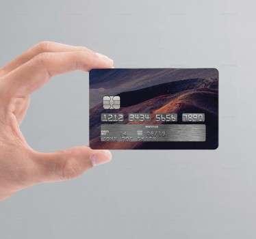 Sticker pour carte de crédit représentant un volcan. Personnalisez votre carte bancaire et rendez la unique grâce à nos autocollants pour carte bleue.