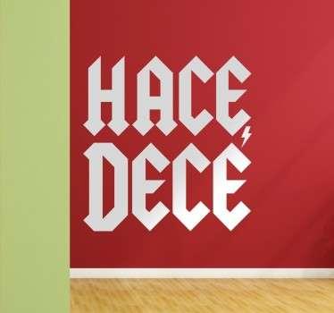 Vinilo decorativo ACDC en español