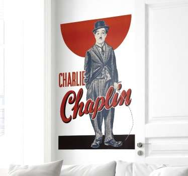 Adesivo poster Charlie Chaplin