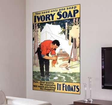 Vintage Ivory Soap Muursticker