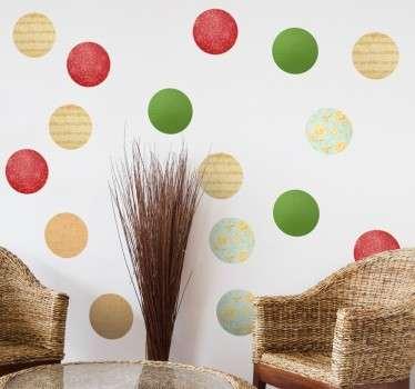Autocolantes decorativos círculos natal