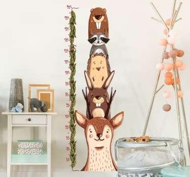 Adesivo per bambini metro fauna