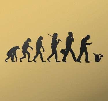 Pokemon Go Menselijke Evolutie Muursticker