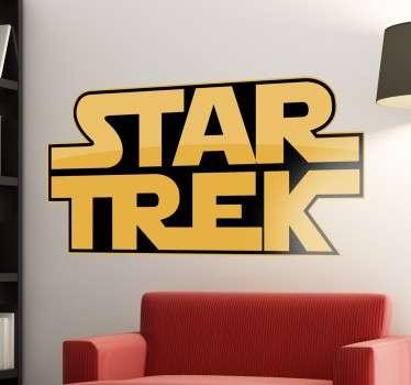 Vinilos divertidos para fans de la Guerra de las Galaxias y Star Trek con una fusión del logo de ambas producciones.