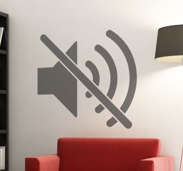 Silence Symbol Wall Sticker