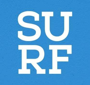 Sticker texte Surf typographie
