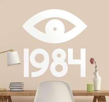Vinil decorativo olho 1984 Orwell