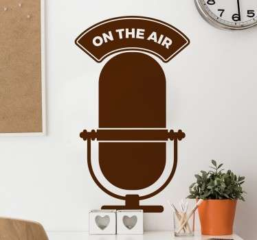 Adesivo decorativo on the air radio