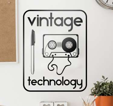 Decoratieve vintage technologie muursticker