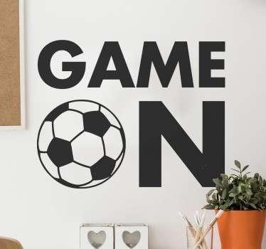 Spel på fotbollsklistermärke