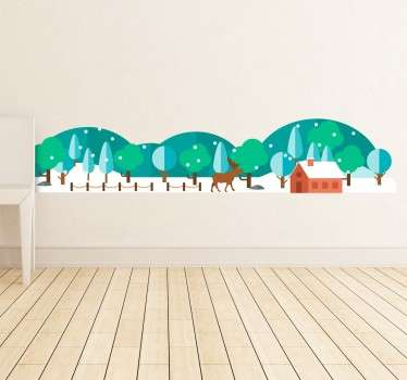 Snowy Forest Decorative Wall Sticker