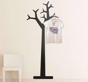Adesivo appendiabiti albero
