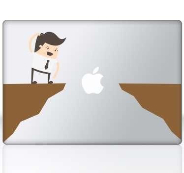 Naklejka macbook skok w przepaść