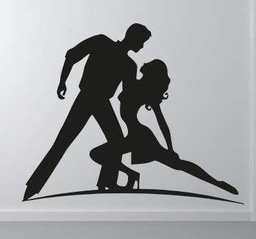 Naklejka ścienna para tańcząca taniec latynoski