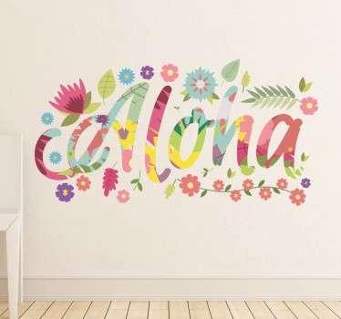 알로하 하와이 벽 스티커
