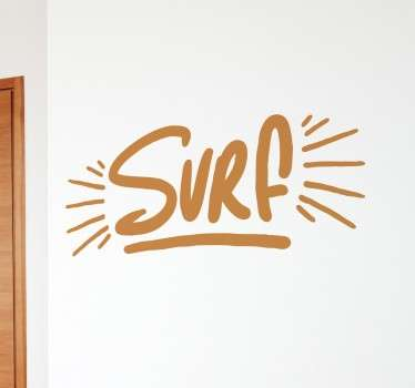 Adhesivo texto surf lettering