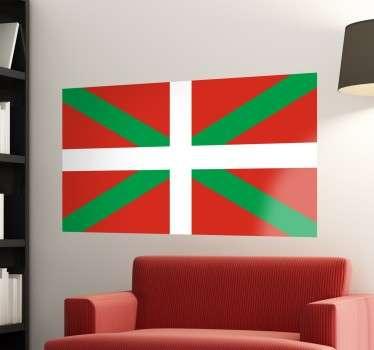 Vinilos de banderas con una representación del emblema nacional del País Vasco.
