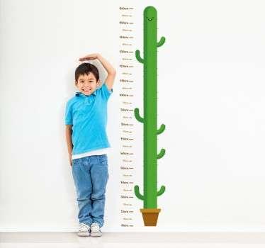 Child Cactus Height Measurement Wall Sticker