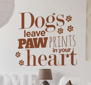 Sticker dogs paw prints in your heart