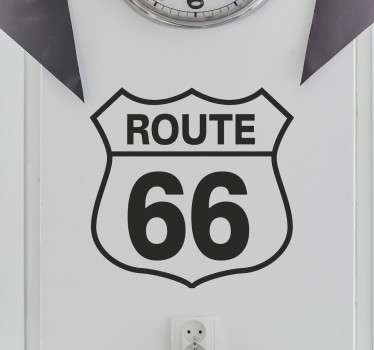 Vinil decorativo placa route 66