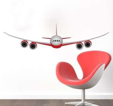 Sticker avion piste d'atterrissage