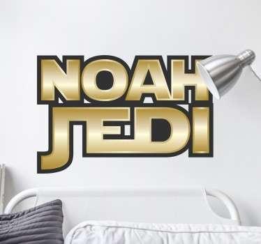 Pegatinas personalizadas de Star Wars con el nombre que desees. Un original regalo para frikis de la Guerra de las Galaxias.