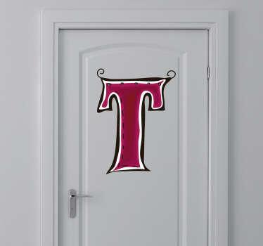 Vinil decorativo ilustração letra T
