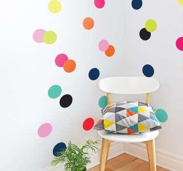Autocolantes círculos de todas as cores
