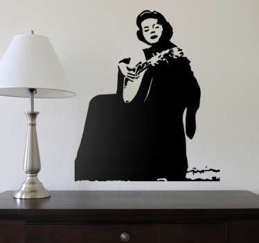 Personality character silhouette wall sticker design of Amália Rodrigues. A lovely living room decoration and it is available in any size required.