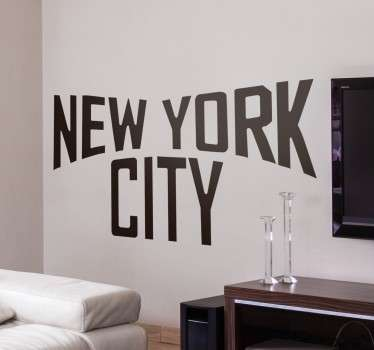 New York City Text Wall Sticker
