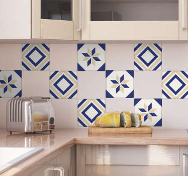 Moroccan Tile Cross Sticker