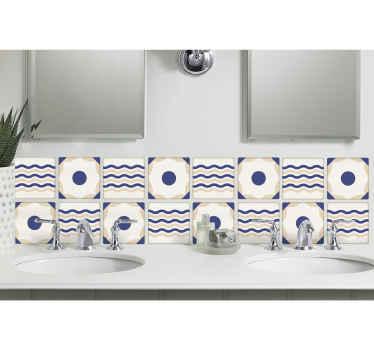 Sticker frise carrelage motifs géométriques