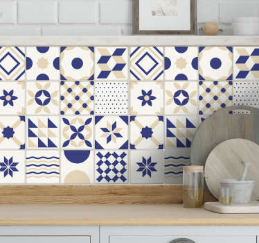 Tiles Wall Sticker for your kitchen or bathroom. Unique Portuguese design perfect for adding that touch of style to any room in the house.