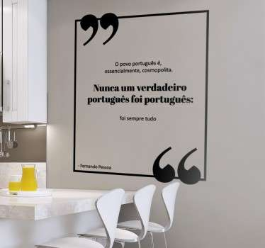 Vinil decorativo citação Fernando Pessoa
