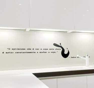 Vinil decorativo citação Chagas Freitas