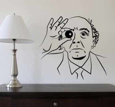 Vinilos decorativos de personajes de la cultura y la literatura, en este caso el escritor portugués José Saramago.