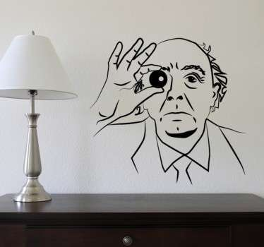 Vinil decorativo caricatura José Saramago