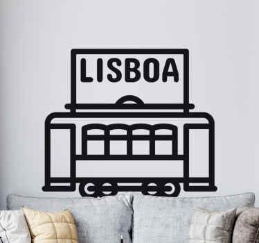 Adesivo decorativo tram Lisbona