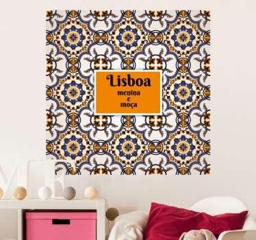 Vinil decorativo Lisboa Menina e Moça