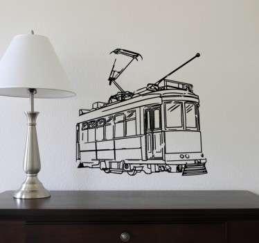 Muursticker Elektronische Tram Lissabon