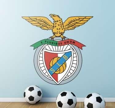 Vinil decorativo de um dos clubes de futebol mais famosos de Portugal. Adesivo de parede dos encarnados Sport Lisboa e Benfica.