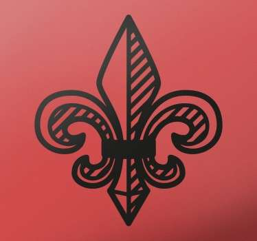 If you're a fan of classic and timeless interior decoration, look no further than this Fleur de Lis decorative wall sticker!