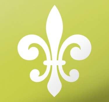 Dekorieren Sie Ihr zu Hause mit unserem Wandtattoo Heraldische Lilie.