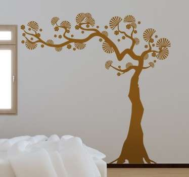 If you're looking for an original and unique way to decorate your home, look no further than this fan tree decorative wall sticker!