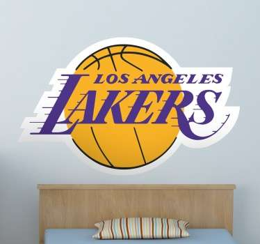 Vinilo logo clásico Angeles Lakers