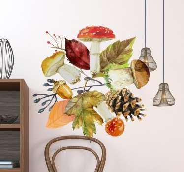 Wandaufkleber Herbstelemente