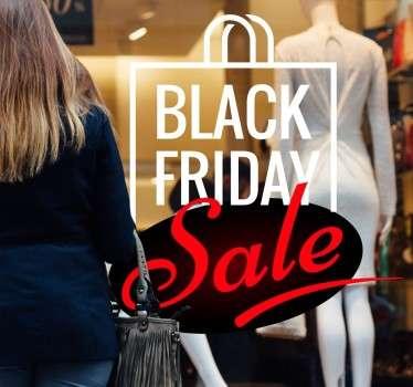 Schaufensteraufkleber Black Friday Sale