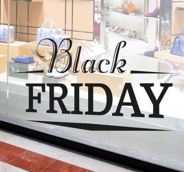 With this shop window sticker, tell your customers that you are participating in Black Friday! The window sticker consists of the lettering 'Black Friday' in a different font.