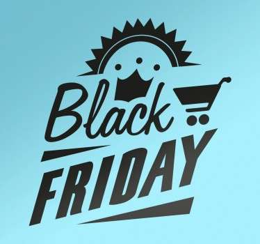 Muursticker Vintage Black Friday